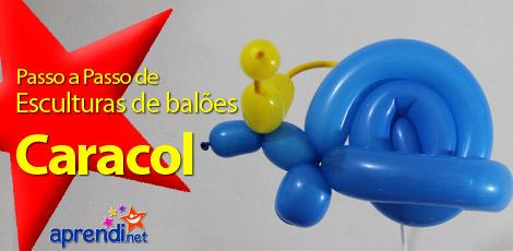 Caracol - Passo a Passo de escultura de balão