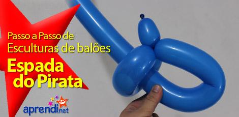 ESCULTURA DE BALÕES - ESPADA