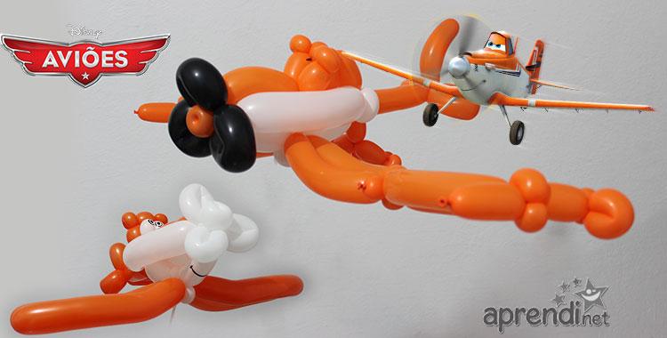 Projeto 3 - Escultura de Balões - Dusty de Aviões da Disney