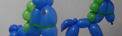 Escultura de balões - Cavalo ou Pónei