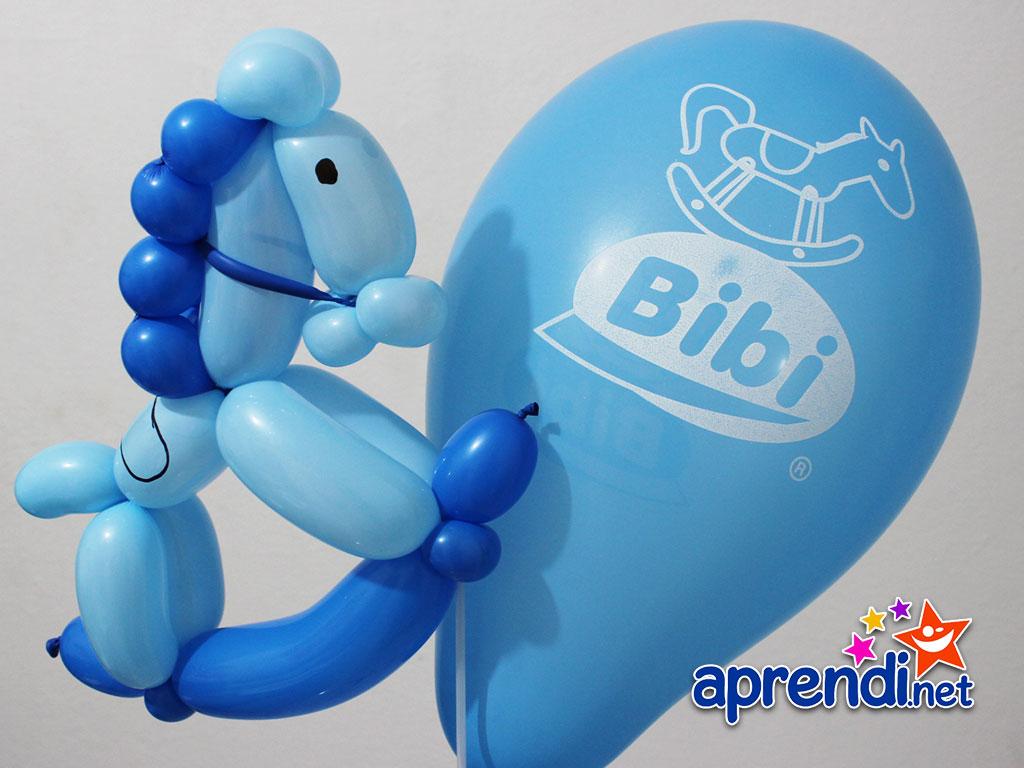 Esculturas de balões Cavalinho de Balanço aprendi.net #0D368C 1024x768